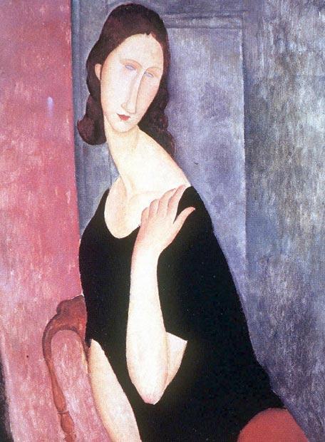 Retrato de Jeanne Hébuterne por Amedeo Modigliani